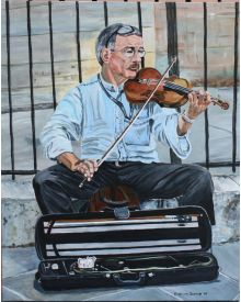 Violinist at Notre Dame