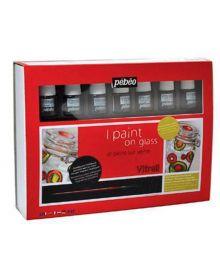 Pébéo Vitrail Paint On Glass Set 8 x 20 ml Jars
