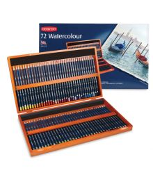Derwent Watercolour Pencil Wooden Box Set - 72 Piece