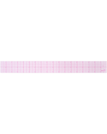 Westcott Letter Craft 8ths Beveled Transparent Ruler 18-Inch