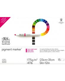 "Winsor & Newton Bleedproof Pigment Marker 47 lb. Pad, 9"" X 12"""