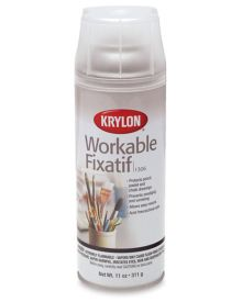 Krylon Workable Fixatif Clear Aerosol Spray,11 oz