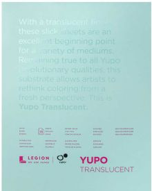 Yupo Translucent 153 gsm 15 Sheet Pad 27.94x35.56cm/11x14in
