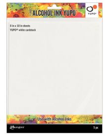 Tim Holtz Alcohol Ink Yupo (White cardstock) 8 x 10 in