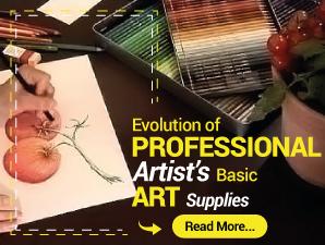 EVOLUTION OF PROFESSIONAL ARTIST'S BASIC ART SUPPLIES
