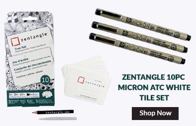 Zentangle 10pc micron atc white tile set
